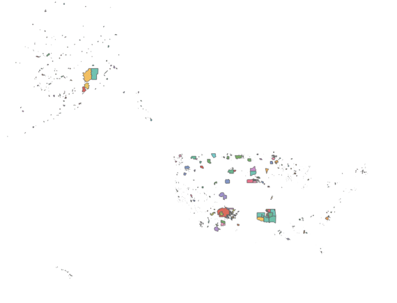 Census areas without a base map